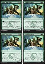 4x TEMUR SABERTOOTH Fate Reforged MTG Green Creature — Cat Unc