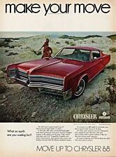Old Print. Red 1968 Chrysler 300 Auto Ad - make your move