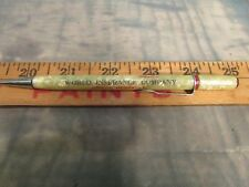Vintage Mechanical Pencil World Insurance Company Omaha Nebraska White Big Red