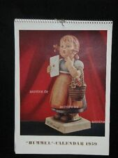 "Goebel Hummel calendrier calendar 1959, USA-version, Frontispiece ""Méditation"""