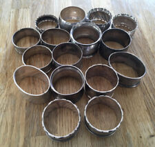 More details for a collection of solid silver napkin rings for scrap or collect (309 grams)