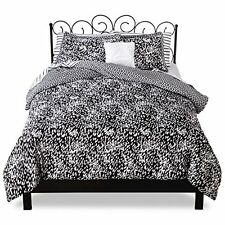 Xhilaration - Cheetah Bed In A Bag - Black/White - 8 Piece Set FULL - Brand New