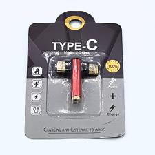 Duo head USB-C naar 3,5mm Jack audio adapter - Rood