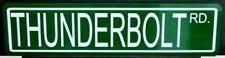 THUNDERBOLT METAL STREET SIGN FORD MUSCLE CAR FAIRLANE 427 DUAL QUAD SUPER STOCK