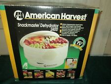 American Harvest Snackmaster 2400 4 Tray Dehydrator Model Fd50/30 complete