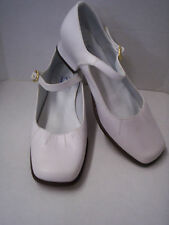 Shoes, Girl's White Leather by Heavenly Fashion, Size 1, New