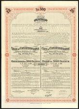Ottoman/Turquie, Ville de Constantinople, 5% MUNICIP. prêt, £ 20/500 FR Bond, 1913