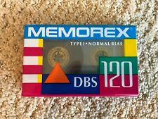 MEMOREX DBS 120 Cassette Tape Brand New Never Opened