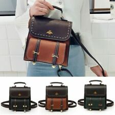 Fashionable Little Bee Vintage Pu Leather Women Backpack Simple Preppy Style New