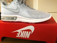 NIKE AIR MAX SEQUENT 4 LIGHT GREY MESH MENS RUNNING TRAINERS SIZE UK 9