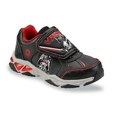 Disney Star Wars Darth Vader Black/Red Youth Boys' Light-Up Sneakers Shoes 11M
