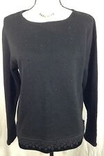 Lemon Grass Sweater Pull Over  Womens Size Medium Embroidered With Studs