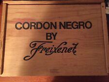"Cordon Negro by Freixenet Wooden Wine Box with Sliding Lid 14"" x 10"" x 4-1/2"""