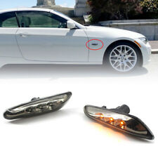 LED Black Side Marker Lights Turn Signal For BMW E82 E88 E60 E61 E90 E93 Perfect