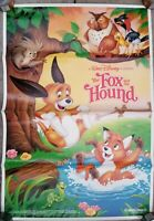 Vintage 1988 DISNEYS THE FOX AND THE HOUND Re-Release One-Sheet Poster Animation