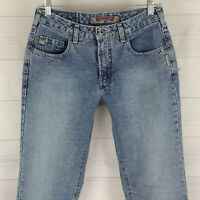 Silver Jeans Bell Flare Womens Size 29 in. x L33 Blue Med Wash 100% Cotton denim