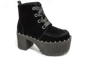 T.U.K A9346L Nosebleed Boot Black Spike Welt Velvet