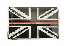 Thin Red Line Union Jack UK GB Metal Tie Pin Lapel Badge Fire Fighter Fire Man