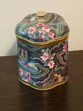 Hummingbird & Flowers Rounded Pentagon-Shaped Candle Tin Can