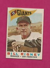 1961 TOPPS # 225 GIANTS BILL RIGNEY MANAGER EX-MT CARD (INV# A5457)