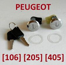 PEUGEOT 106/205/405 paire de porte avant Serrures Barillets avec Clés Set OE: 9170-0 A