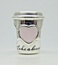 Authentic Pandora #797185EN160 Drink To Go Sterling Silver Bead