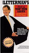 """DAVID LETTERMAN """"BOOK OF TOP TEN LISTS & ZESTY LO-CAL CHICKEN RECIPIES"""" 1995 HC"""