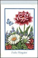 DDR Postkarte Glückwunsch Gruss PFINGSTEN Blumen Motiv