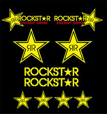KIT COMPLETO 10 ADESIVI DECAL STICKERS ROCKSTAR ENERGY