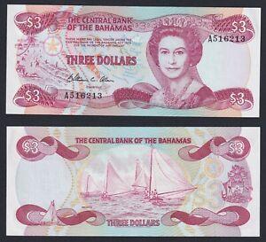 Bahamas 3 dollars 1984 FDS-/UNC-  A-01