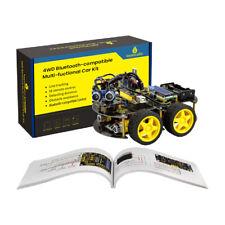 4wd Bluetooth Compatible Control Diy Smart Car Robot Starter Kit For Arduino Set