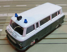 per slot car Racing Modellismo ferroviario Barkas B1000 Polizia armata con