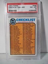 1973 Topps Checklist 529-660 PSA Graded NM-MT 8 Baseball Card #588 MLB