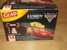 Glad 14 pc. Lunch variety pack pixar Cars 3 theme. food containers