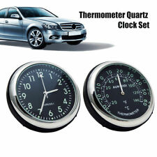Pair Luminous ABS Car Mechanics Quartz Clock & Thermometer Auto Time Decoration