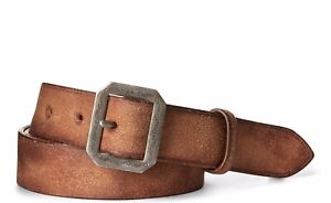 RRL Ralph Lauren Made in Italy Roughout Leather Belt-MEN-40