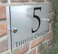Contemporary HOUSE SIGN / PLAQUE / DOOR / NUMBER / GLASS EFFECT ACRYLIC 28B