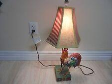 "25"" Adorable Rooster Table Lamp 2004 Jim Shore Heartwood Creek"