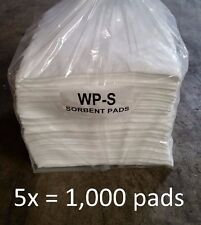 "5x WPB200S - Oil Only Absorbent Pads - 200 Pads Per Case, 15"" x 19""  White WP-S"