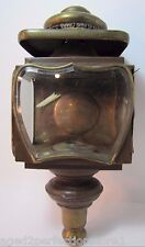 Antique Atwood 'Extra Quality' Carriage Buggy Lamp unique ornate bevel glass