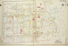 1917 RICHMOND N.Y. SUNNYSIDE STATEN ISLAND CLOVE LAKE COPY PLAT ATLAS MAP