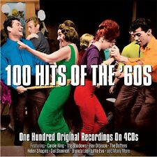 100 Original Hits of the 60s 1960's 4 CDs Carole King Drifters Roy Orbison +More