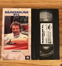 Magnum Pi, Murder 101 (VHS, 1983) Tom Selleck, Marilyn Jones