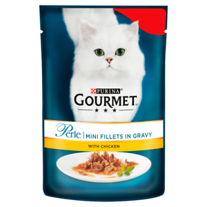Gourmet Perle Pouch Chicken Cat Food 24x85g FREE NEXT DAY DELIVERY