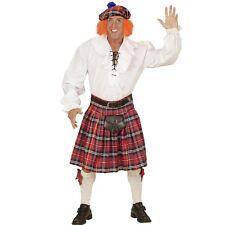 3 tlg. KILT SCHOTTENROCK MIT KAPPE UND HAAR Schotte Karneval Herren Kostüm #1107