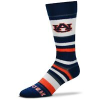 Auburn Tigers For Bare Feet Women's Soft Stripe Crew-Length Socks
