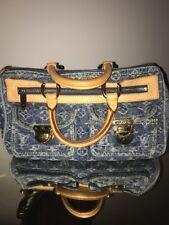 Authentic LOUIS VUITTON Neo Speedy Blue Monogram Denim Hand Bag Purse #28176