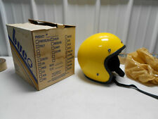NOS 1970s BUCO 5 SNAP OPEN FACE MOTORCYCLE HELMET #1828-1 POLY YELLOW SIZE SMALL