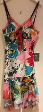 Women's BLUMARINE New Multicolored  Cotton Summer Dress IT 38, UK 6