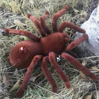 Remote Control Scary Creepy Soft Plush Spider Infrared RC Tarantula Toy Kid Gift